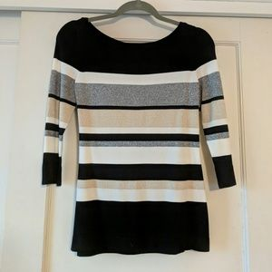 Shimmery Striped Sweater by WHBM